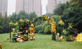 户外花园式婚礼