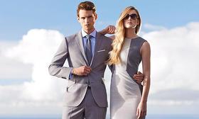 迷情灰色系商务定制西服-量体裁衣高端定制