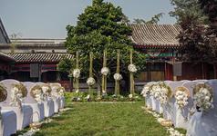 (三只熊花艺)中式庭院中的西式婚礼