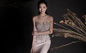【欧妮莎婚纱】高品丝绸细腻钉珠气质透视大牌礼服