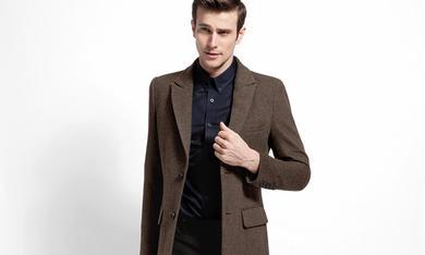 绅士咖色系列大衣定制
