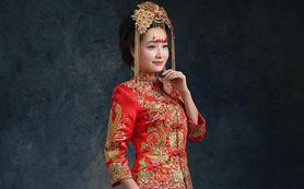 2014修身龙凤褂裙褂秀禾服红色中式婚纱新娘旗袍