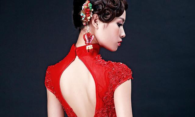 安吉莉娜中国风-中式礼服