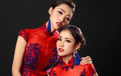 安吉莉娜姐妹款-最美的中国红
