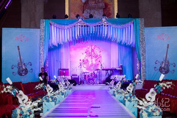 奢華婚禮背景設計(3米×4米=12平方led高清p4大屏