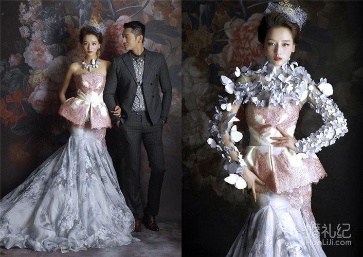 古摄影宫廷婚纱照:王妃