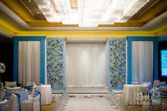 婚礼主题喷绘 背景定制18平米/时尚华丽欧式三联个性