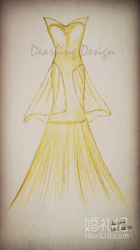 金色鱼尾 礼服