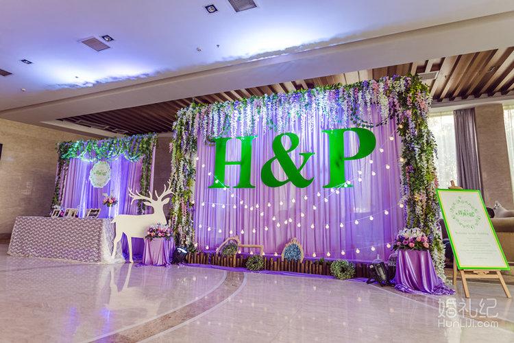 紫色森系婚礼主题
