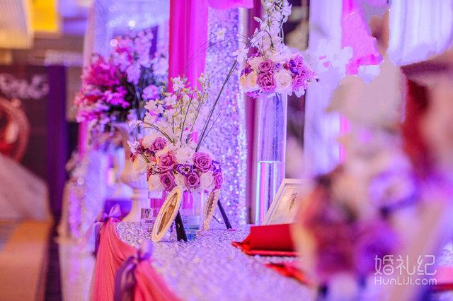 梦幻粉紫色婚礼