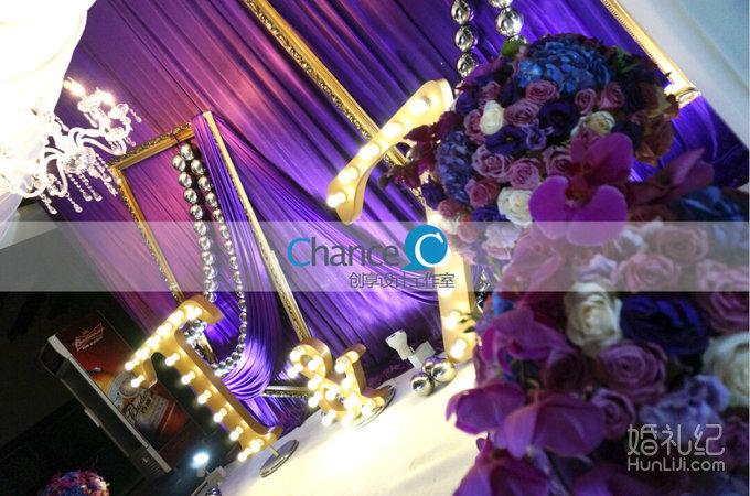 紫色梦幻复古欧式婚礼