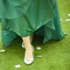 文艺女青年的万元婚礼  绿色纸花超清新哦