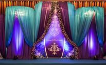 蓝&紫撞色欧式婚礼