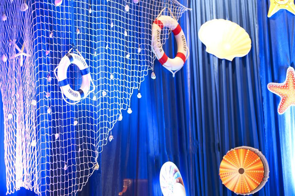 海洋主题墙边框设计图片展示