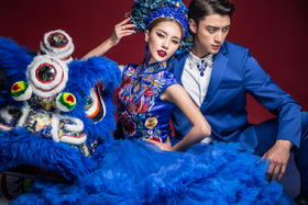 【苏格摄影】中式婚纱照  醒狮迎春