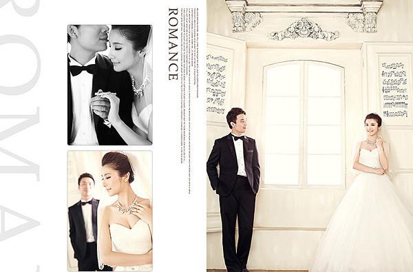 婚纱照到手相册排版很满意 韩式 校园风