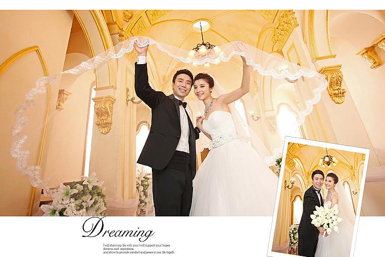 婚纱照到手相册排版很满意