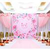 没用一朵花办得粉色婚礼也很浪漫呢!