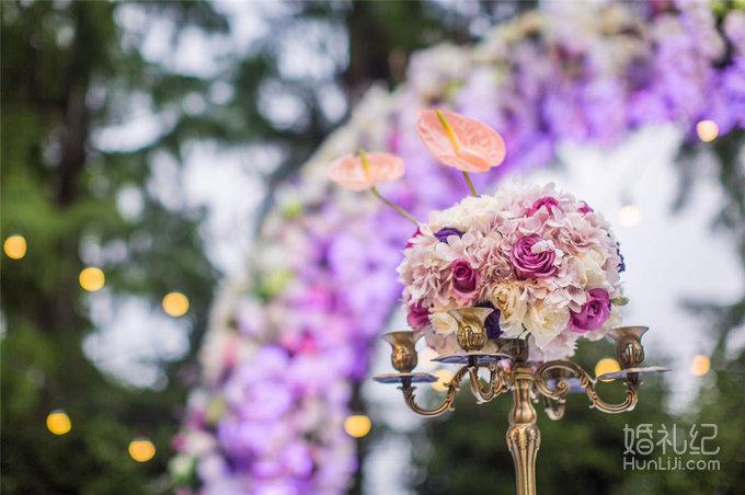 西式紫色酒会婚礼