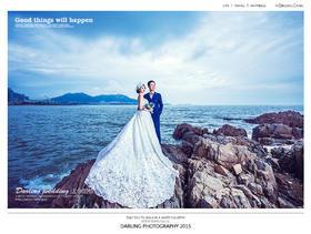 达令婚纱摄影 青岛蜜月旅游海景婚纱