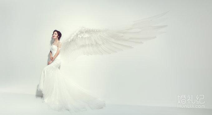 白色长裙婚纱设计图