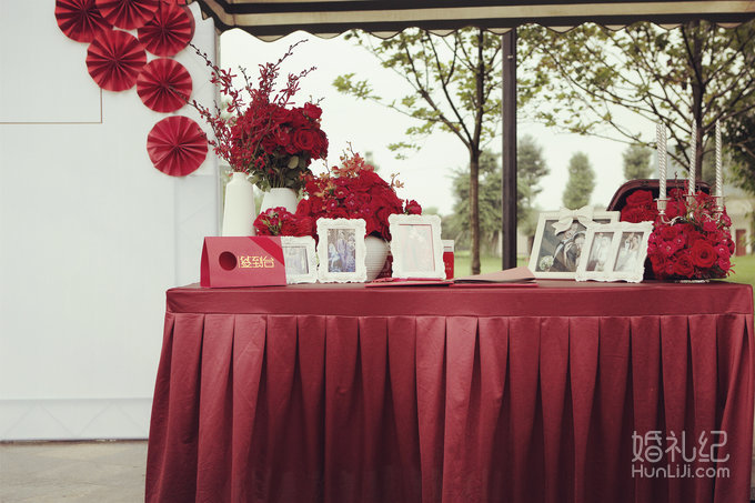 【深白婚礼】室内法式婚礼-红白