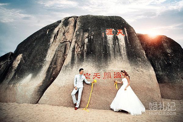 爱度旅拍>三亚天涯海角系列,婚礼摄影,婚礼纪 hunli.