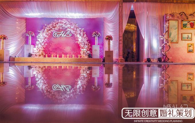 粉色系主题婚礼