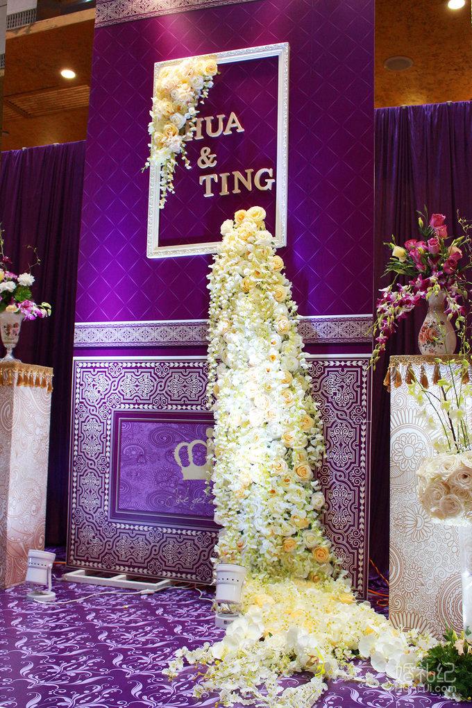 婚礼舞台背景设计1套 婚礼仪式桌布1套 婚礼仪式香槟塔1套 婚礼仪式