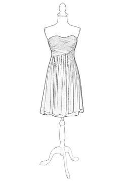 短婚纱简笔画设计图