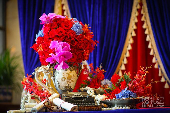 【成都曦妍婚礼出品】红蓝色欧式超值婚礼套系