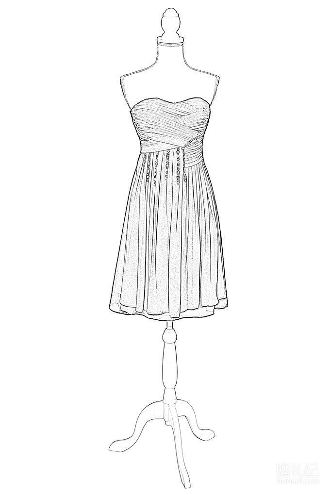 短款晚礼服