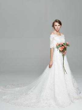 微信头像手绘女孩婚纱