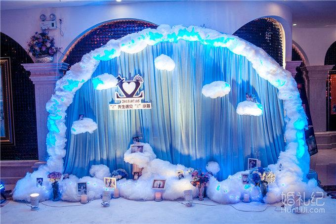 婚礼圆形舞台图片素材