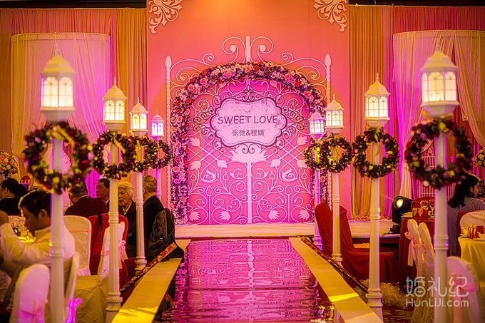 粉色主题:sweet love,婚礼策划公司