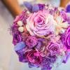 婚礼上的花都是紫色 鲜花都不如蛋糕美