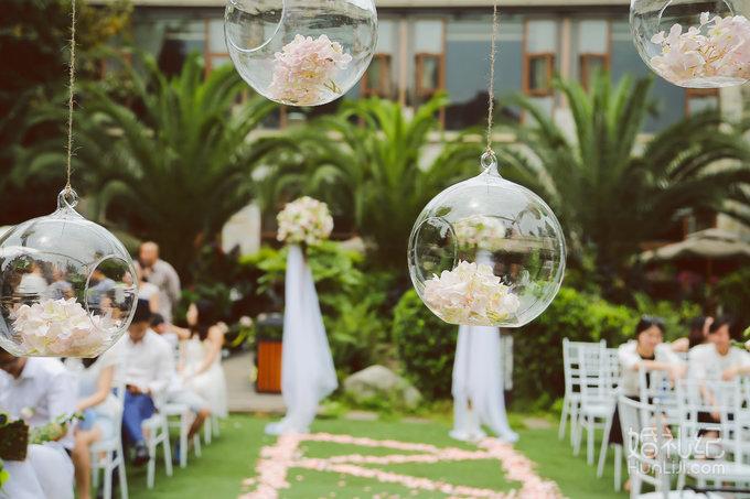 〔索尔婚礼设计〕户外单车情缘主题婚礼纯鲜花布场