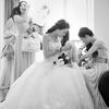 淡紫色婚礼小成本却够大气  叫了几个仙女伴娘