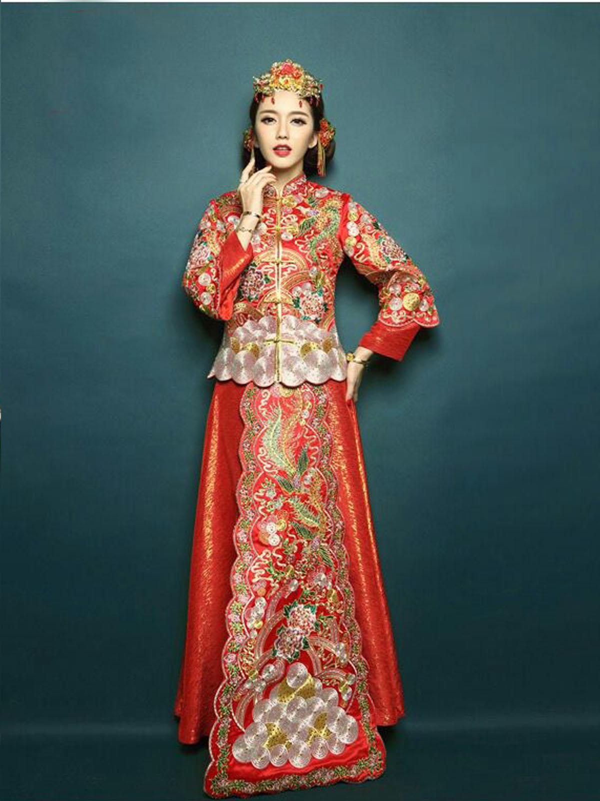 龙凤褂婚纱礼服