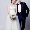 拍婚纱照婚纱西服全自带 自己设计的节俭婚布