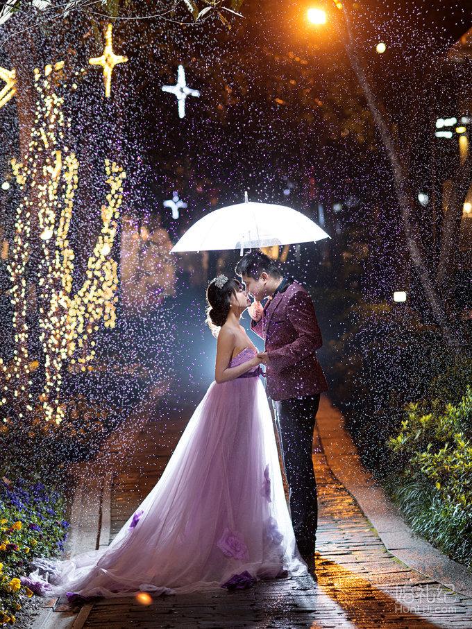外灘夜景,婚禮攝影,婚禮紀 hunliji.com圖片