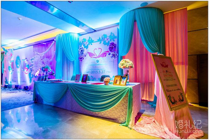 25 婚礼场地:四季酒店 婚礼主题:粉蓝色主题婚礼 婚礼摄影:皇家婚礼