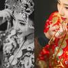 披上红袍嫁衣出嫁咯  第一次发现传统服饰真美