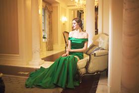 【丽莎皇宫】纯真梦露——新娘绿色敬酒服