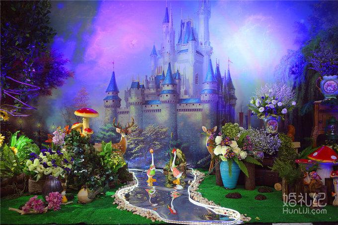 森林主题舞台背景喷绘设计以及