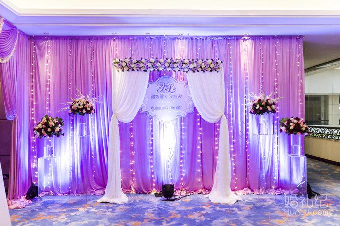 皇家婚礼-粉紫色主题婚礼-罗湖香格里拉酒店