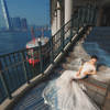 晒晒婚纱照 拍摄于香港街头