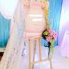 粉色搭配蓝色真的好少女 自己被婚礼萌到了