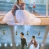 合婚酒红盖头,漫天大雪下的纯中式婚礼