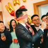 紫色花海婚礼布置 虔诚的基督教徒大婚现场